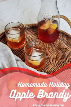 Homemade Apple Brandy! Make the colder Winter months warm up with this delicious homemade apple brandy recipe. Classic Cocktails, Fun Drinks, Classic Drink Recipe, Brandy Recipe, Apple Brandy, Best Cocktail Recipes, Best Food Ever, Winter Months