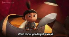 I'm in love with this little girl <3 #agnes #despicableme #goodnightkisses