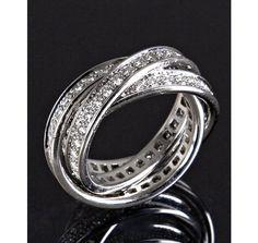 Cartier Trinity Rings....how I hope mine will look someday!