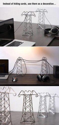 Make cords a decoration - #Crafts, #LifeHack