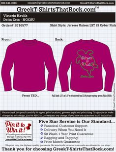 Delta Zeta SJ16577 ...................................................WORK 1 ON 1 with a member of our design team until your T-Shirt ideas are perfect.... and ALWAYS them on in time (before you even need them) at the price you want! ...................................................................................................... JUST CLICK THIS IMAGE TO GET STARTED!