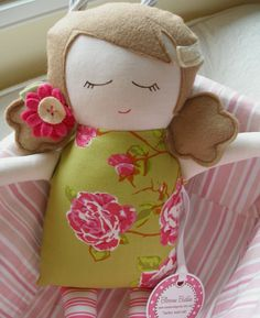 *♫~ *♫~Love love love *♫~ ~ Custom Felt Doll made to order by Dianne emmi's cottage ~
