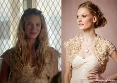 Несмотря на то, что все мы хотим, чтобы Оливия ушла как можно скорее ,я все еще думаю, что мы должны воспользоваться моментом, чтобы оценить этот романтический наряд. В 5 серии она носит этот Moyna Bejeweled Болеро ($ 100