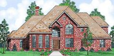 European Style House Plans - 3240 Square Foot Home , 2 Story, 4 Bedroom and 4 Bath, 3 Garage Stalls by Monster House Plans - Plan 3-201