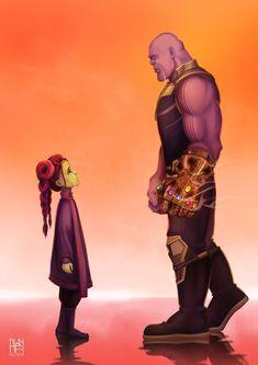 father and daughter -Gamora & Thanos #gamora #thanos #marvel #cosplayclass