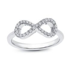 Sterling Silver CZ Infinity Ring by Lafonn  #silver #infinity