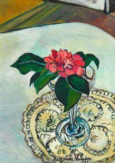 Suzanne Valadon (French, 1865-1938), Camélia dans un verre [Camelia in a glass], 1926. Oil on canvas, 33 x 24 cm.