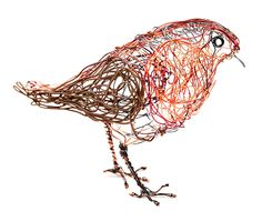 Celia Smith Wire Bird Robin You Can Have A Go At Making This With The Twenty