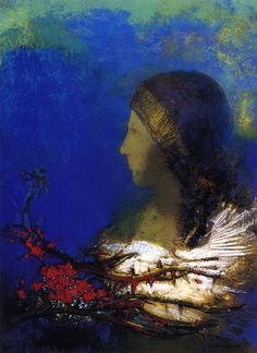 """ Red Thorns Odilon Redon """