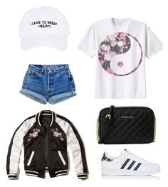 """Untitled #234"" by anne-mary-c ❤ liked on Polyvore featuring Nasaseasons, Hollister Co., adidas and Michael Kors"
