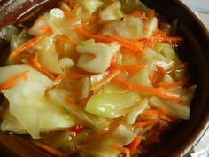 Cabbage, marinated in Asian style