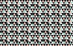 Triangle Coral Mint fabric by sylviaoh on Spoonflower - custom fabric