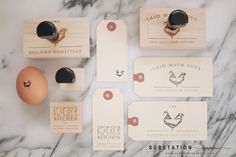 Egg Logo - Egg Carton Design and Branding - Homestead Branding - by Substation Paperie for Sullivan Homestead