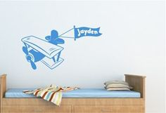 Kids Personalised Decal - Bi-Plane for sale on Trade Me, New Zealand's auction and classifieds website Kids Bedroom, Bedroom Ideas, Planes For Sale, Home And Living, Decals, Home Decor, Tags, Decoration Home, Room Decor