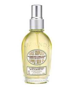 L'Occitane Almond Supple Skin Oil: Beyond its luxurious texture, the oil protects skin's support tissue and stops it from losing elasticity.
