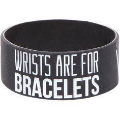 Sleeping With Sirens Wrists Rubber Bracelet Hot Topic (€4,96) ❤ liked on Polyvore featuring jewelry, bracelets, rubber bangles and rubber jewelry