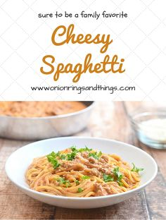 Cheesy Spaghetti is a delicious pasta dish made with spaghetti noodles and a cheesy, creamy tomato sauce; quick and easy, this is sure to become a family favorite