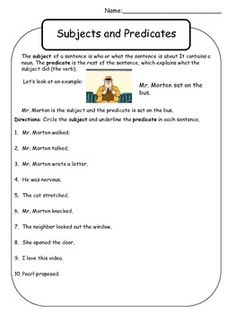 GRADE 4 English on Pinterest | Collective Nouns, Subject And Predicate ...