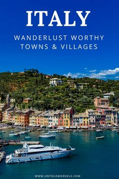 Portofino Italy - one of the most beautiful towns in Italy for your travel inspiration. Read our article to discover 30 gorgeous towns and villages in Italy you must add to your Europe and Italy itinerary Travel Tips Tips Travel Guide Hacks packing tour Fun Places To Go, Places To Travel, Travel Things, Positano, Amalfi, Italy Travel Tips, Travel Europe, Travelling Europe, Traveling