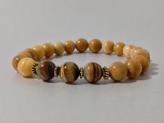 Pulsera de Jaspe y Ojo de Tigre,piedras semipreciosas,joyas de jaspe,joyas de piedras,piedras,regalo para hombre,joyas para hombre,regalos de DeMaiCreaciones en Etsy