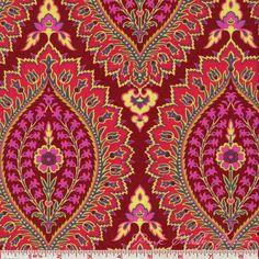 18 X 20 LAMINATED  - Imperial Paisley zinnia  coated vinyl fabric yardage - Amy Butler Alchemy - BPA free (aka oilcloth) on Etsy, $4.50