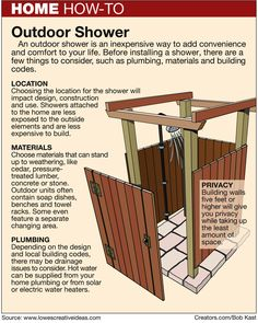 Build an Outdoor Shower by Pat Logan on Creators.com -