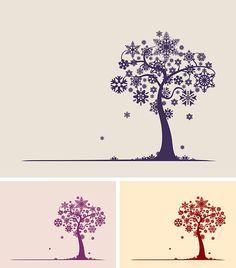 snowflake tree - free vector download