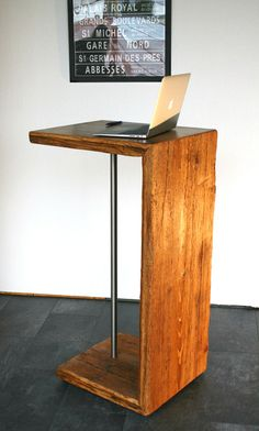 Stehpult – Designmöbel aus antikem Holz von woodesign auf DaWanda.com