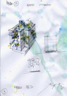 diseño de escultura huerto urbano