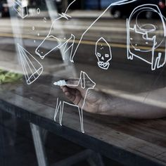 ghostpatroladvance:  My good friends have opened a new burger shop in Melbourne - and they let me draw all over the windows. The black bean and quinoa burger is my favourite.  @chew_burger