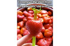 Remove Strawberry Stem With Straw  The 35 Most Epic Life Hacks That Will Change Your World | Elite Daily