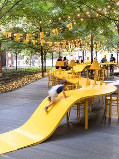 Gallery of TULIP – Your place at the table / ADHOC architectes - 7 Landscape Architecture, Landscape Design, Architecture Design, Urban Furniture, Street Furniture, Design D'espace Public, Urbane Analyse, Playground Design, Urban Park