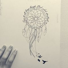 Tattoo design. Dream catcher.