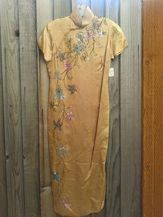 Vintage Gold Seide asiatische chinesische Mandarin von RetroRealm