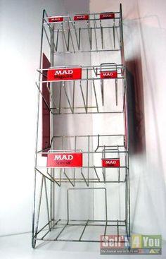 Mad Magazine Comic Book Display Rack Stand