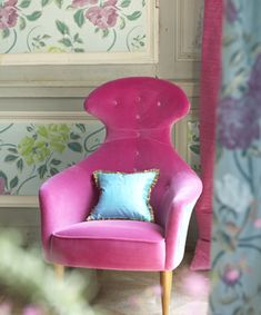 Superb velvet from the DG Ruggiero collection. Designers Guild Fabrics and wallpapers can be purchased through www.janehalldesign.com