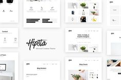 Hipsta - Minimal Creative Theme by The Unbranded on @Graphicsauthor