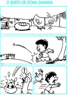 ATIVIDADES PARA EDUCADORES: Produção de texto O SUSTO DE DONA GALINHA Conversation Starters For Kids, Story Sequencing, Reading Comprehension Worksheets, Picture Story, Children With Autism, Color Stories, Speech And Language, Storytelling, Fairy Tales