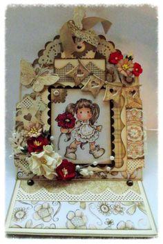 'Aged' Magnolia Tilda card