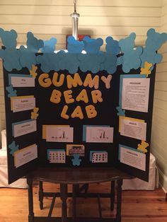 Gummy Bear Lab 5th grade science project