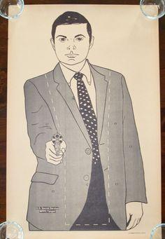 Vintage Paper Shooting U.S. Secret Service MPPC Target 1978 Agent Spy