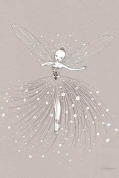 Mokkasin - FAIRY DANCE - CATHY DALANSSAY FOR L'AFFICHE MODERNE