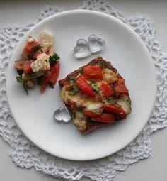 Dětem zdravě: Chléb zapečený s rajčaty, špenátem a mozzarelou Bruschetta, Food And Drink, Ethnic Recipes