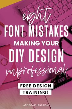 Since fonts and type are so crucial to good design,  I'm going to cover the most common font mistakes I see non-designers make when designing graphics, pdfs, Pinterest pins, freebies and social media graphics for their blogs // Applecart Lane