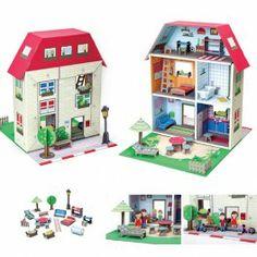 La casa de Murielle de KROOOM http://pekaypeke.com/es/juguetes-de-carton/124-la-casa-de-murielle.html
