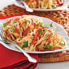 Linguines frais, pesto aux tomates séchées - Recettes - Cuisine et nutrition - Pratico Pratiques
