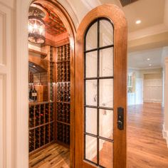 Traditional Home Small Wine Cellars . Arched Door . houzz.com ++fth