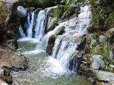 Beautiful waterfall hidden in Bo Espino, San Lorenzo, Puerto Rico...