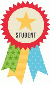 Silhouette Online Store: star student ribbon
