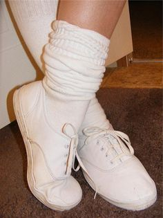 Keds Sneakers with slouch socks - This was part of my regular outfit during elementary school (but I had black Keds!) :)